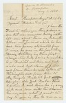 1864-08-08  John Knowles, Jr. inquires about his son David A. Knowles who was badly wounded and is very sick in hospital
