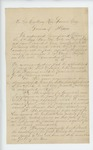 1864-08-31  Zemro Smith and other commissioned officers request that Governor Coburn appoint Major Shepherd to lead the regiment, saying the appointment of Thomas Talbot