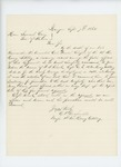 1864-09-07  Major Chris V. Crossman writes to Governor Cony to recommend Captain W.S. Clark for promotion