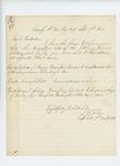 1864-09-09  Captain Samuel J. Oakes writes regarding descriptive lists for Nicholas S. Harris, Thomas Gilbert, and George Springer
