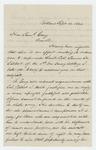 1864-09-14  Nathan Webb writes Governor Cony regarding the effort to promote Major Shepherd over Lieutenant Colonel Talbot