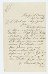 1864-09-16  Luther Brown of Sheepscot inquires about death of his son Webster Brown