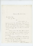 1864-10-06  Thomas H. Talbot writes Governor Cony about re-entering service