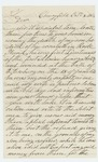 1864-10-08  Nicholas Newenham writes of the death of his son, who died of wounds from Petersburg, and of his other son wounded at Fredericksburg