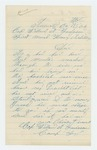1864-10-15  William A. Fenlason requests his descriptive list and payment as he has been wounded in the hospital since June