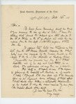 1864-10-16  Major General Dix, Commander of the Department of the East, writes Governor Cony concerning the case of Lieutenant L. Curtis