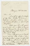 1864-10-24  Stephen Gilman requests to transfer his wounded son Walter from Portsmouth Grove, Lovell General Hospital