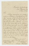 1864-11-01  Surgeon Jerome B. Elkins recommends Assistant Surgeon H.A. Reynolds for promotion