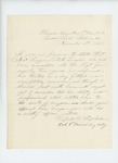 1864-11-06  Colonel Russell Shepherd recommends Albert Lincoln for promotion to surgeon