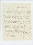 1864-11-14  Joseph Gray writes Governor Cony recommending Lieutenant George Brewer