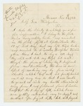1864-11-24  Horace Webber writes regarding his wounding and poor care, requests payment