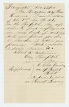 1864-11-27  Albert A. Waterhouse writes Governor Cony and requests a writing position for his wife