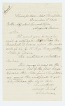 1864-12-02  Amos Buck, Selectman, requests certification that Silas M. Marshall was listed on the muster roll for Company G