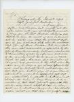 1864-12-26  Joseph R. Sawyer writes Adjutant General Hodsdon regarding Lieutenant Hudson Sawyer