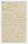 1865-02-19  Andrew Tucker requests information on status of his discharge as he is anxious to return home