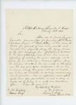1865-02-22  Dr. Davis, Chief Surgeon, recommends A.R. Lincoln for promotion to surgeon