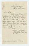 1865-02-23  Baker & Weeks inquire whether Andrew J. Hollis, Company C is alive as his wife has not heard from him in a year