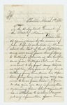 1865-03-01  Robert Rogers asks for information about John Doherty, who has not been heard from since his enlistment in September 1864