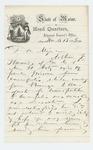1865-03-13  Adjutant General Hodsdon writes regarding Arthur F. Howard, who is listed as a deserter