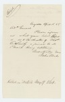 1865-04-15  Baker & Weeks request a report on the death of Charles E. Smily