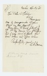 1865-04-24  L.G. Downes requests information regarding the death of Franklin F. Foss
