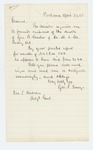 1865-04-27  George F. Emery requests certification of the death of George B. Brastow of Company M