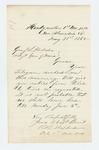 1865-05-31  Colonel Shepherd informs Adjutant General Hodsdon the regiment will depart June 5