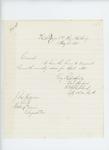 1865-05-31  Colonel Shepherd sends monthly return to Adjutant General Hodsdon