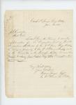 1865-06-20  Captain Hudson Sawyer writes Adjutant General Hodsdon regarding descriptive list for Private Ingraham Nickerson