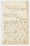1865-07-05  Colonel Russell Shepherd wishes for a discharge for Arthur D. Chase, for