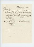1865-07-07  H.L. Whitcomb inquires about fate of Isaac E. Bowley of Company A