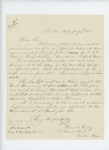 1865-07-07  Drew & Greely request information on Private John Nason of Company G, not heard from since June 1864