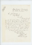 1865-07-15  Lieutenant Colonel Zemro Smith requests military history of Privates Isaiah Barnes and A.R. Pierce