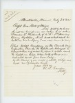 1865-07-24  Attorney H.L. Gordon inquires about the death of Francis L. Philbrook of Company A and of Charles H. Philbrook