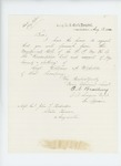 1865-08-12  Surgeon O.N. Bradbury requests muster out roll, descriptive list, and account of pay, bounty, and clothing for Sergeant William A. Webster