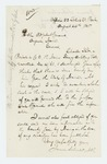 1865-08-26  Attorney James Schouler writes on behalf of Private Charles Stade of Company B regarding bounty payment
