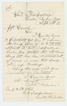 1865-09-24  N.E. Nickerson requests Adjutant General Hodsdon inform the commanding officer at Fort Independence that the regiment has been mustered out
