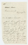 1865-09-25  Private David M. Morgan asks how to obtain his discharge and pay