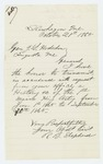 1865-10-21  Colonel Shepherd sends the regimental history of 1865