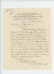 1865-12-08  S. Dana Wingate requests death certificate for Silas M. Marsh of Company G who died of disease