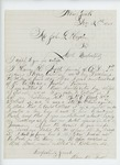 1865-12-28  Henry H. Frost of Company D inquires about his discharge papers as a paroled prisoner