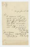 1866-01-04  Lieutenant James A. Dole sends his carte de visite photograph to Adjutant General Hodsdon