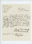 1866-01-13  D.H. Drummond encloses the claim of Danville Brown for payment