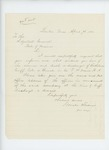 1866-04-09  Horatio Woodman requests evidence of service and death or discharge of Bartholomew Cuff, Company F