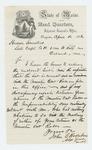 1866-04-16  Adjutant General Hodsdon returns list to Captain Hudson Saunders