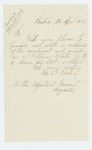 1866-04-26  George S. Derby requests certification of enrollment and muster in of William White of Company B