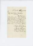 1861-05-01 1st Lieutenant Reuben Sawyer sends enlistment roll by Reuben Sawyer