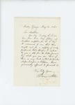 1861-05-12 Barnes Allen writes to Governor Washburn regarding supply of lint by Barnes Allen