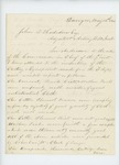 1861-05-16 A.D. Manson writes to Adjutant General Hodsdon regarding inspection of clothing and equipment of 2nd Regiment by A. D. Manson and Arad Thompson
