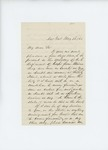 1861-05-23 Willis Patten writes to Governor Washburn offering his services by Willis Patten